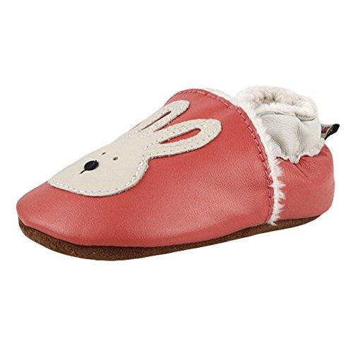 Freefisher Lauflernschuhe, Krabbelschuhe, Babyschuhe, Winter gefüttert - in vielen Designs Kaninchen auf Rosa
