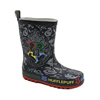 WarnerBros Childs Harry Potter Hogwarts Crest Wellington Boots (UK 9) Black, Grey