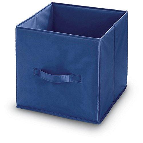Domopak Living - Cube de rangement - Bleu - 32 x 32 x 32 cm