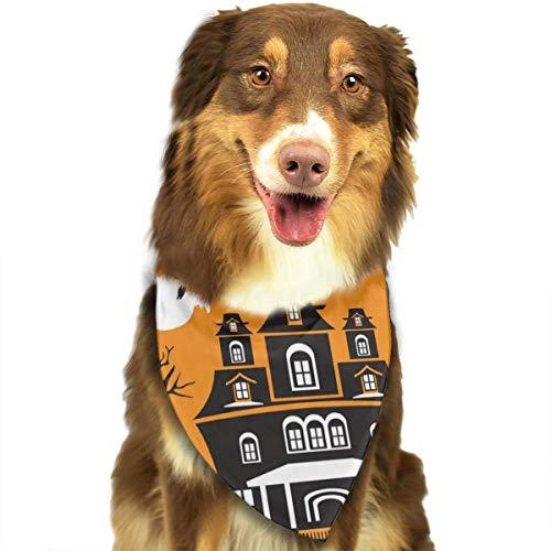 Sitear Halstuch für Hunde und Katzen, Halloween, Wolf, Fliegende Hexe, für kleine bis große Hunde