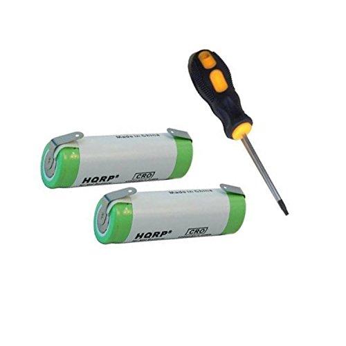 HQRP Paquete 2 baterías recargables Braun FreeGlider