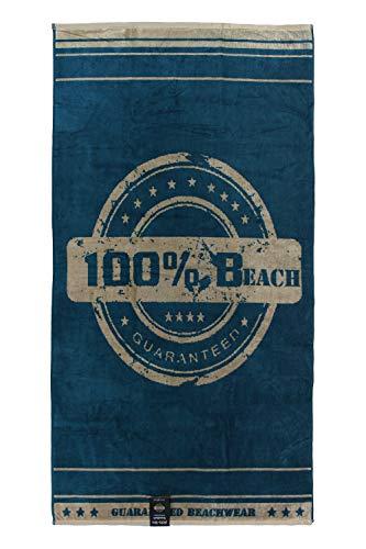 jilda-tex Strandtuch Beach 90 x 180 cm Badetuch Strandlaken Handtuch 100% Baumwolle Velours Frottier Pflegeleicht