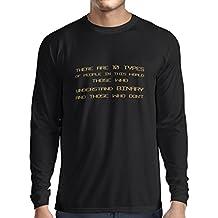 N4242L T-Shirt mit langen Ärmeln Binary Code