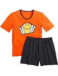 Pomm'poire - Pyjama court Orange Night by Smiley - Homme