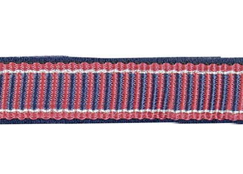 HKM Halfter -Basel-, weich unterlegt, rot/dunkelblau, Vollblut