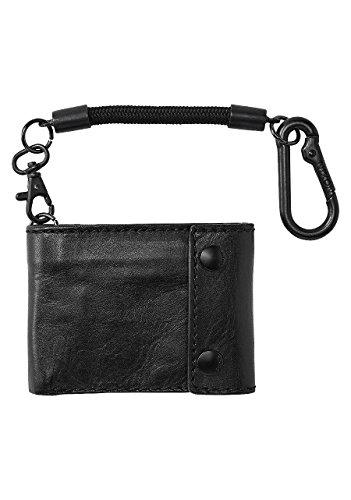 Nixon ghiaia Bi-piegare Rope borsa del portafoglio della moneta, sella nero