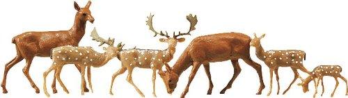 Faller 155509 - set di cervi e daini, confezione da 12 pz.