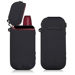 kwmobile Hülle kompatibel mit IQOS 2.4/2.4 Plus Pocket Charger - Silikon Case TPU Schutzhülle - Cover Behälter Etui Schwarz