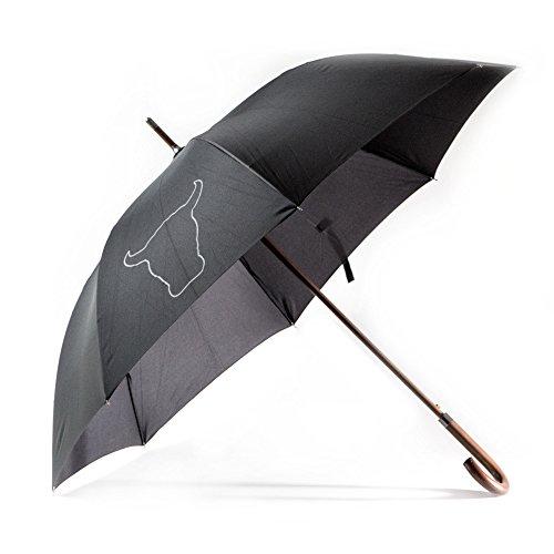 """TORRO Premium Holzstock Regenschirm mit automatischer Öffnungsfunktion. Langlebiges und starkes, wasserdichtes Gewebe. 120cm/47"""" Durchmesser. Robuster J-förmiger Griff und Schirmschaft."""