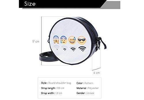 Fringoo, Borsa a tracolla donna Multicolore Emoji Week small Emoji WiFi