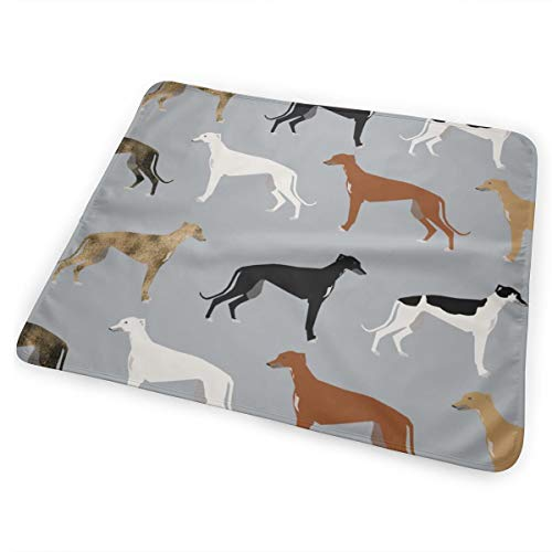 Greyhounds Cute Dog Rescue Dog Fabric Best Dogs Cute Dog Design Best Dog Fabric Brindle Dogs Baby Portable Reusable Changing Pad Mat 25.5