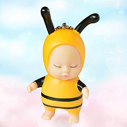 lustiges Spielzeug, ALIKEEY Cute Sleeping Baby Doll Gummi Anhänger Schlüsselbund Schlüsselbund Baby Spielzeug