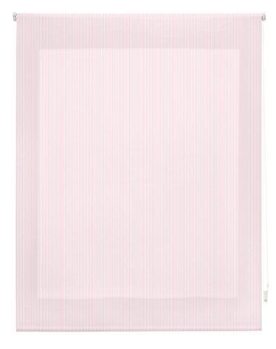 Blindecor righe tenda avvolgibile, tessuto, rosa, 110x 180cm