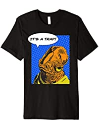 Star Wars Admiral Ackbar IT'S A TRAP Vintage Sticker T-Shirt