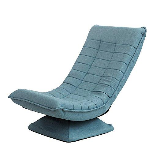 Nwn Mond Stuhl Stoff Freizeit Lounge Sofa Klapp 360 Grad-umdrehung Kreative Schlafzimmer Stuhl Kind Sofa Stuhl (Farbe : Lake Blue) - Schlafzimmer Stoff Stuhl