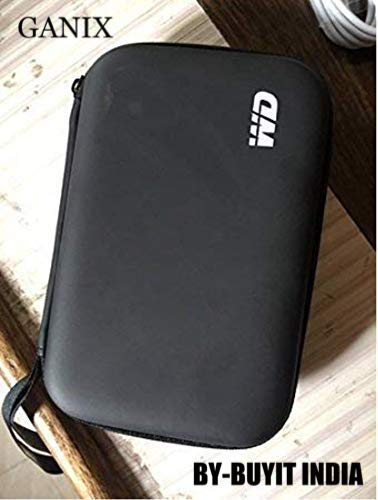 Ganix HDD Hard Case/Cover/Pouch for 2.5 inch Portable Hard Drive - (Compatible with Seagate, Toshiba, WD, Sony, Transcend)