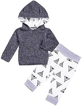 Babykleidung, Longra Kleinkind Baby Junge Mädchen Kleidung Set Hoodie Tops + Hosen Baby Outfit Kleidung Set