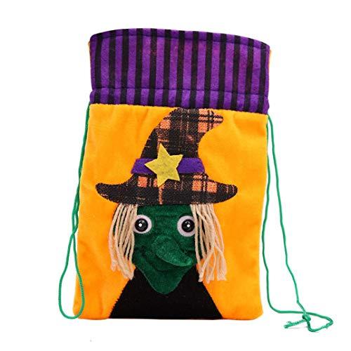 BZLine® Süßigkeiten Lagerung, Halloween-Nette Hexen-Süßigkeits-Tasche, die Kinderpartei-Speicher-Beutel-Geschenk verpackt (Hexe) (Augen Süßigkeit Halloween Kostüme)