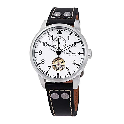 Lucien Piccard Military 24 Automatic White Dial Men's Watch LP-28005A-02