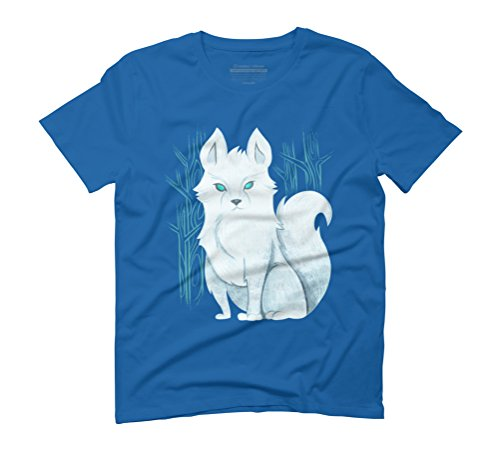 White wolf Men's Graphic T-Shirt - Design By Humans Royal Blue
