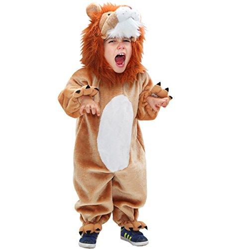 Vestito costume maschera di carnevale - bimbo leone - taglia 2/3 anni - 74 cm