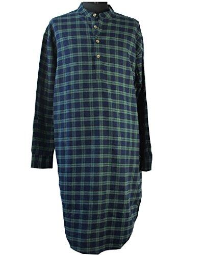 Lee Valley -  Camicia Casual  - Collo mao  - Maniche lunghe  - Uomo gruenblaukariert X-Large