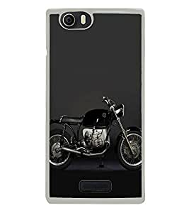 FUSON Side View Sports Bike Designer Back Case Cover for Micromax Canvas Nitro 2 E311