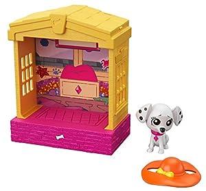 Disney 101 Dalmatian Street Casita para perros con figura Deja-Vu y accesorios, juguete niños +5 años (Mattel GBM33)