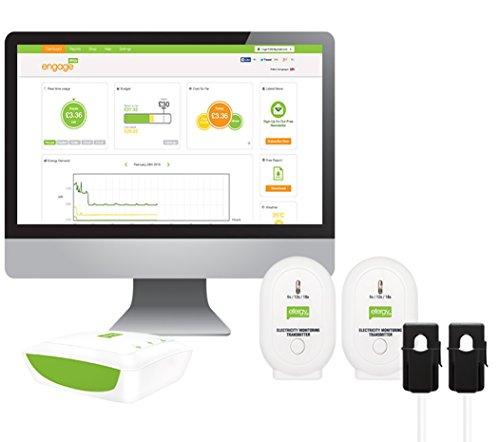 MEDIDOR DE ENERGÍA Monitoriza el consumo de tu vivienda y lo que genera el sistema fotovoltaico de forma simultanea. El Efergy Engage Solar Kit te permite visualizar múltiples circuitos a cualquier hora y desde cualquier lugar, a través de la platafo...