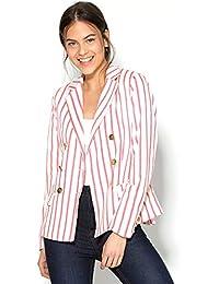b93fb781b21ce VENCA Chaqueta Americana Mujer Rayas Punto Milano Mujer by Vencastyle -  141100