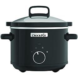 Crock-Pot CSC046X - Olla de cocción lenta manual ( 2.4 l, 2 niveles de potencia y función Mantener caliente)