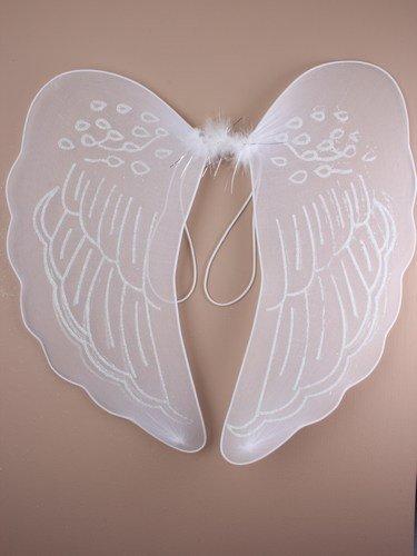 Große weiß glitzernd, Engel/Feen-Flügel für Mädchen und frei fancy Damen Kleid, Flügel ()