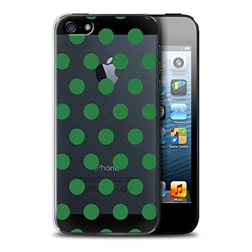 Stuff4 Hülle / Case für Apple iPhone SE / Gold Muster / Dotty Punktmuster Kollektion Smaragd