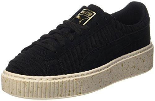 Puma Damen Basket Platform OW Sneaker, Schwarz Black-Whisper White, 37 EU