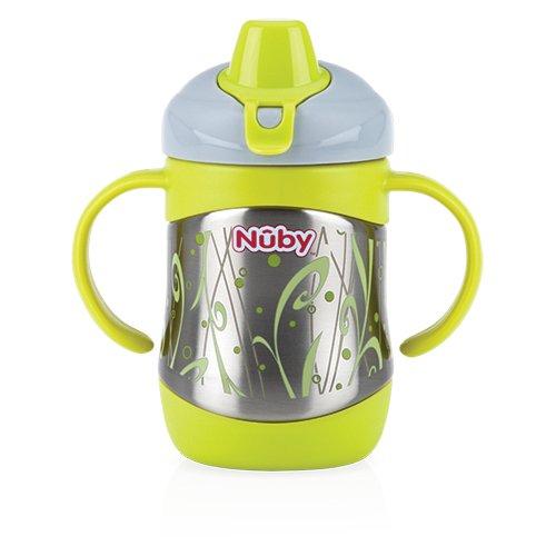 Nuby ID10260 Thermo Edelstahl Trinkbecher mit Trinktülle, 220ml - 3