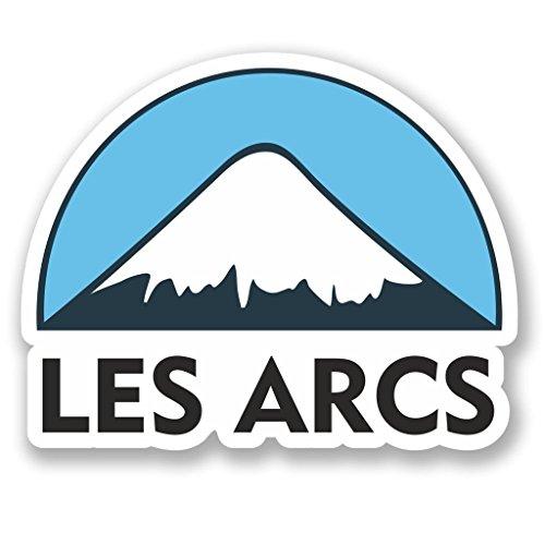 DestinationVinyl 2 x 15cm/150mm Les Arcs Ski Snowboard Vinyl Selbstklebende Sticker Aufkleber Laptop Reisen Gepäckwagen Cool Zeichen Spaß #5133 -
