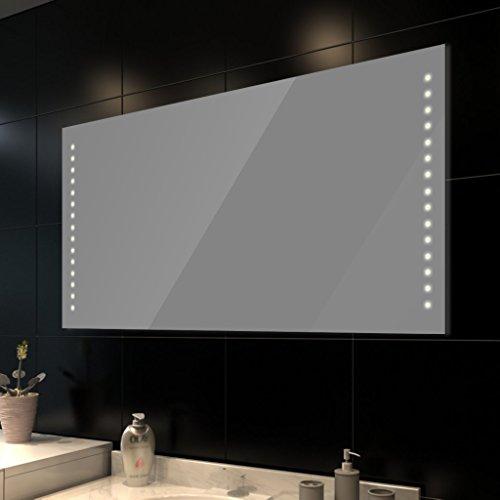 Anself - Led Espejo Del Baño En Pared, 30 Luces De Blanco Cálido, 100 x 60 CM