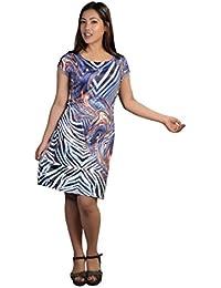 Robe sans manches Ladies Avec Colorful Imprimer