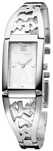 Ted Lapidus - D0460RBPW - Montre Femme - Quartz Analogique - Cadran Blanc - Bracelet Acier Argent