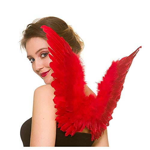 Red Feather Wings Adult Small for Fancy dress Accessory