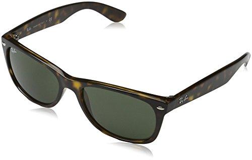 Ray Ban Herren Sonnenbrille New Wayfarer Mehrfarbig (Gestell: Tortoise havana,Gläser: grün 902) Large (Herstellergröße: 58)