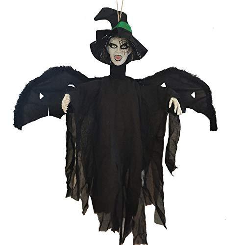 Hexe Reißzähne - WYMI Halloween Leuchten Hexe Hängende Geister