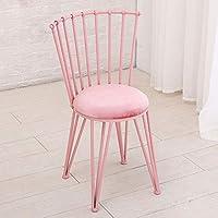 MO XIAO BEI Kleine Hocker Rückenlehne Stuhl Esszimmerstuhl Make-up Hocker Schlafzimmer ändern Schuhbank (Farbe : Pink) preisvergleich bei kinderzimmerdekopreise.eu