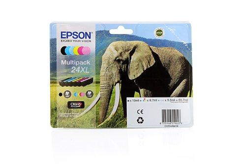 """Preisvergleich Produktbild 'EPSON Kartusche """"Elefant–Tinte Claria Photo HD MP (XL)–Tintenpatronen (schwarz, cyan, Cyan hell, Magenta hell, Magenta, Gelb, XP-750/XP-850, 141,8mm, 45mm, 112mm, 195g)"""