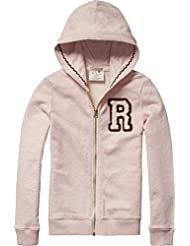 Scotch R'Belle Basic Zip Through Hoody with Badge, Sweat-Shirt à Capuche Fille