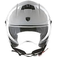 Panthera casco de moto half jet City blanco brillante talla XS