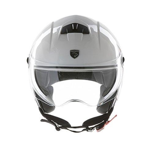 Panthera casque moto demi jet City blanc brillant  taille M