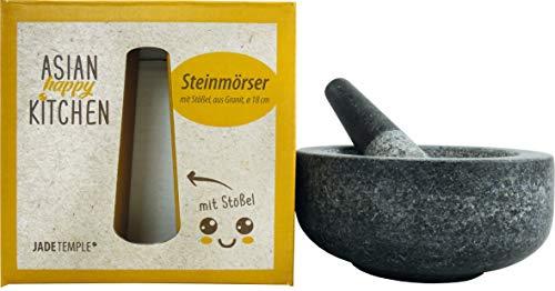 JADE TEMPLE 17171 Steinmörser mit Stössel, Durchmesser 18 cm, stoneware