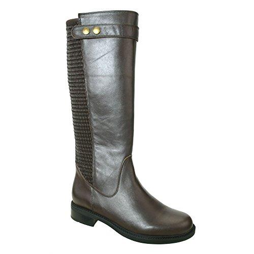 11 W (D) , Brown Calf : David Tate Women's Avery 18 Calfskin Boots