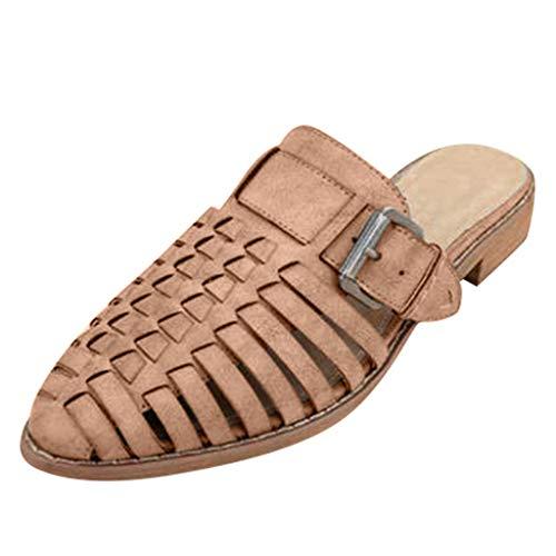 Pingtr - Damen Strandschuhe Hausschuhe,Frauen wies Pantoffeln Hohle Gürtelschnalle für Lady 'High Heel Roman Beach Schuh - Pink Womens Beach-crocs
